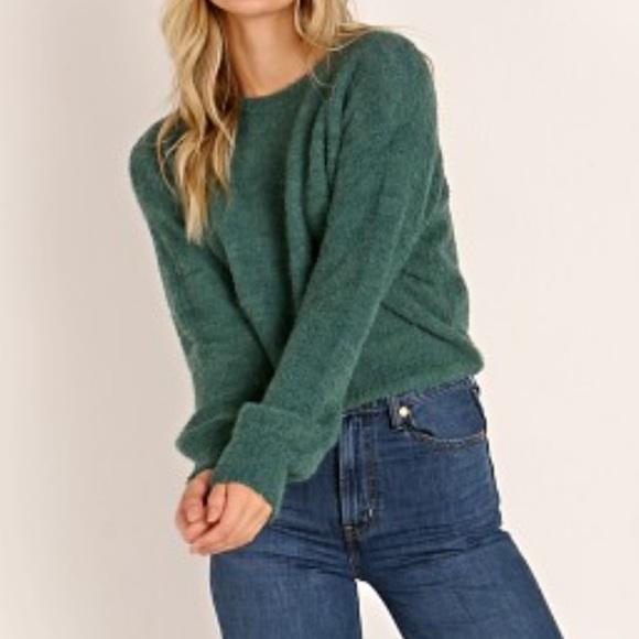 BNWT Brixton emerald green sweater